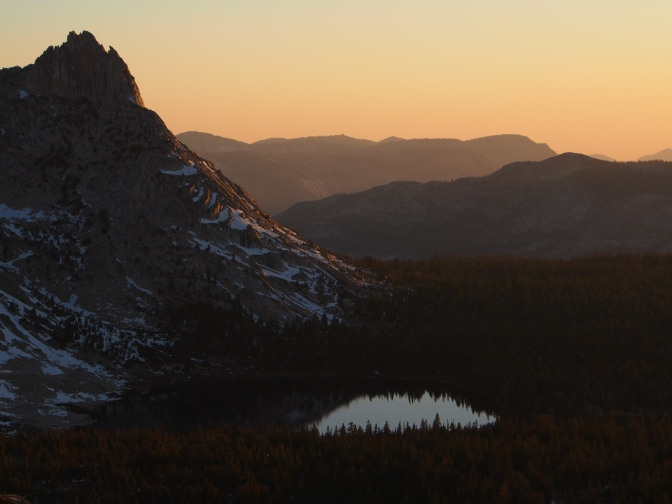Ragged Peak and the lower Young Lake