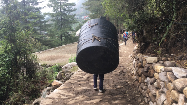 The loads carried by porters and yaks are impressive to say the least.