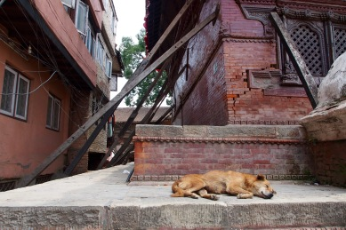 Damage from the 2015 earthquake is still quite visible in Kathmandu, especially in Durbar Square