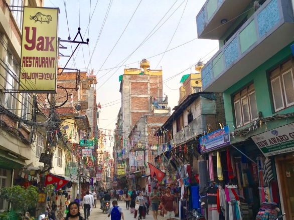 The busy and colorful streets of Kathmandu.
