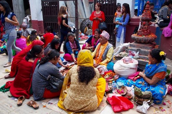 Colorful scenes in Kathmandu