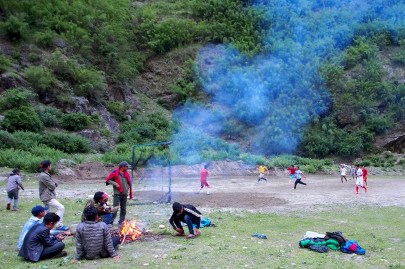 A local football match in Tal
