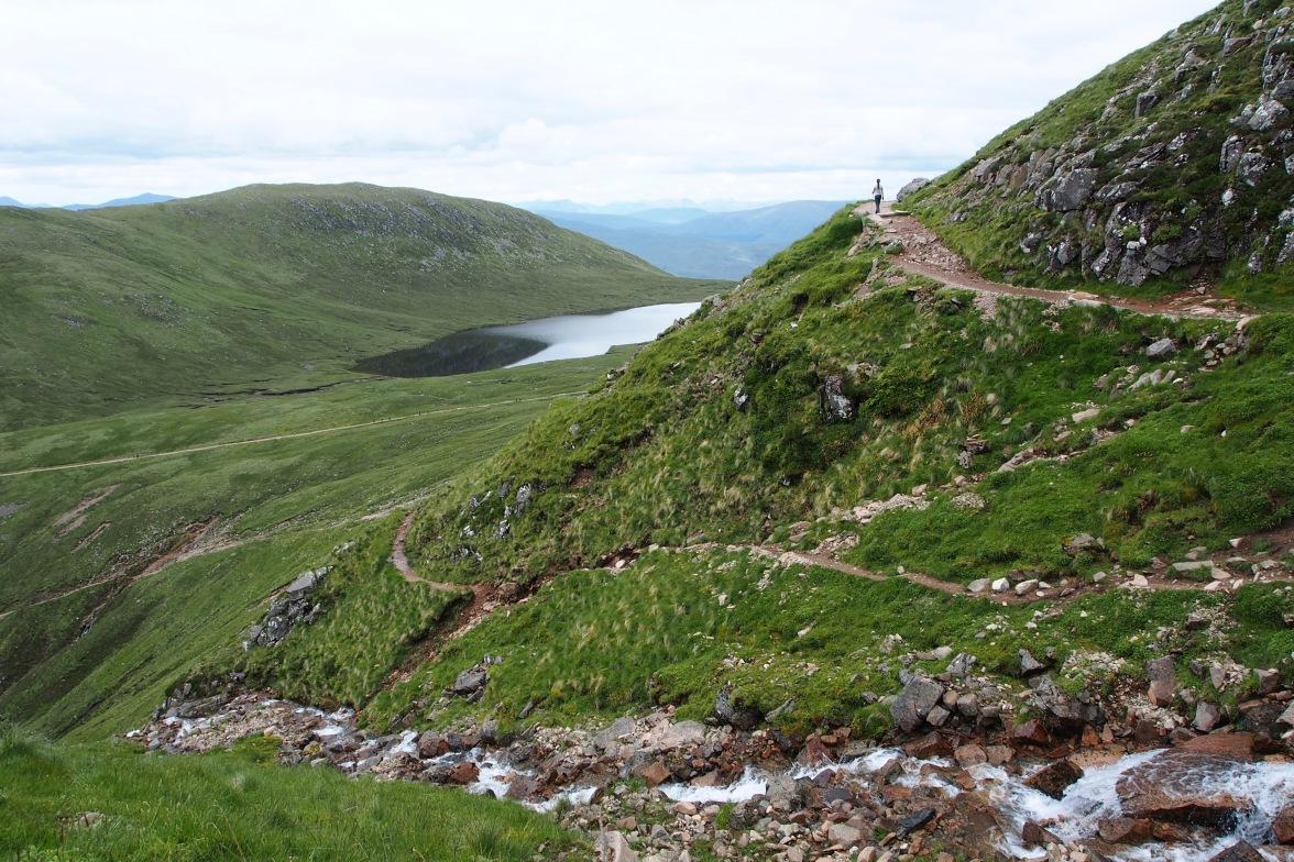Hiking scenic Ben Nevis
