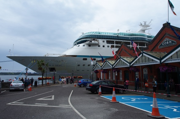 In spite of the Titanic tragedy, Cobh is still a common stop for cruise ships