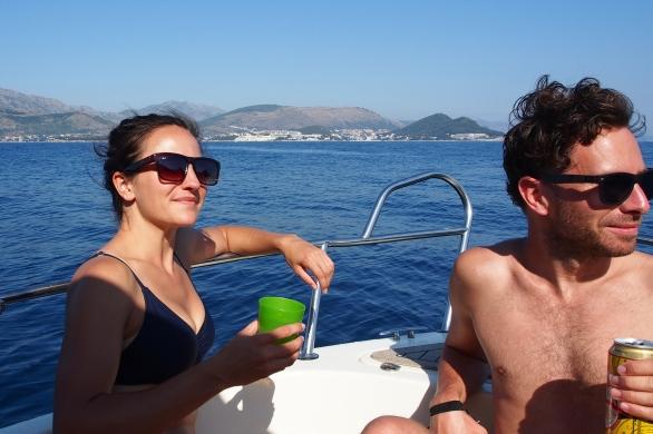 Sun + wine + friends + boat = win