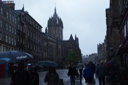 Edinburgh was dark and rainy