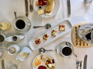 Breakfast spread at Kilbree House