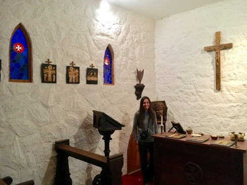 The castle chapel - most castles had a room specifically for worship