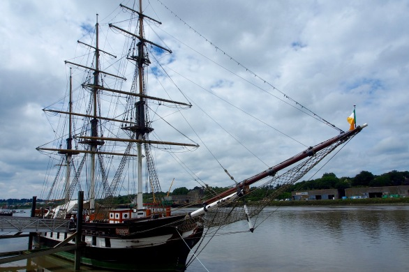 A replica of ships used by early Irish immigrants in New Ross