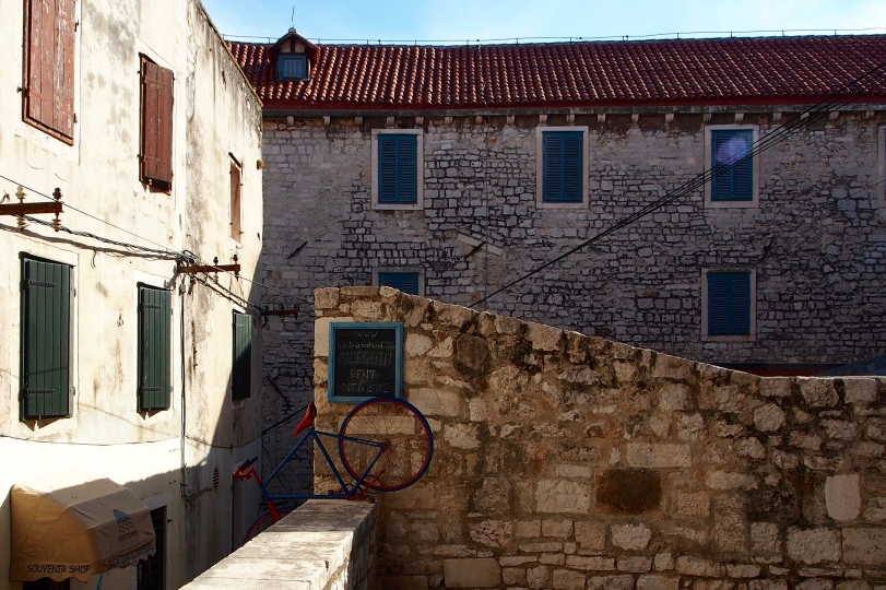 Around any corner in Sibenik's old city, you might stumble upon a scene like this...