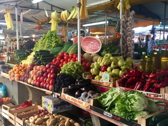 Trogir's market was full of fresh fruits and veggies for very reasonable prices