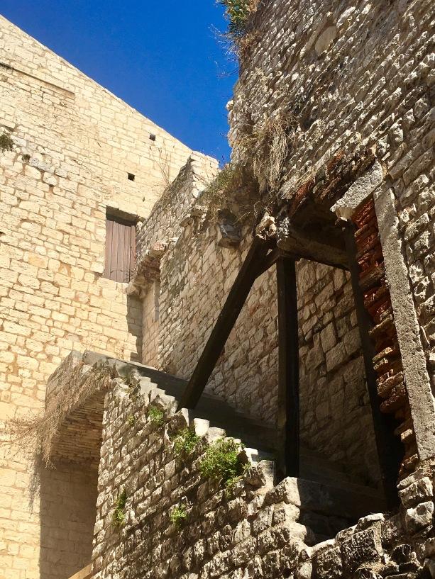 Old city walls in Trogir