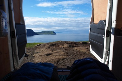 View from the van at Neist Point