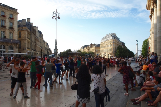 Dancing in the streets of Bordeaux
