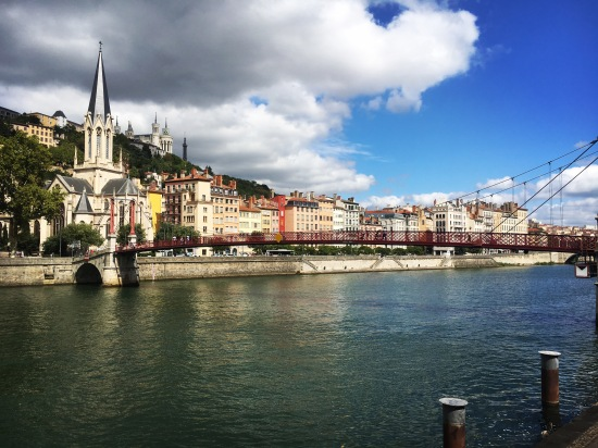 Running Lyon's rivers and bridges was a great way to see the city
