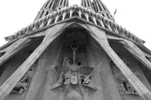 The rear exterior of La Sagrada Familia
