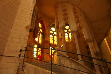 Every stairwell and hallway of La Sagrada Familiais captivating