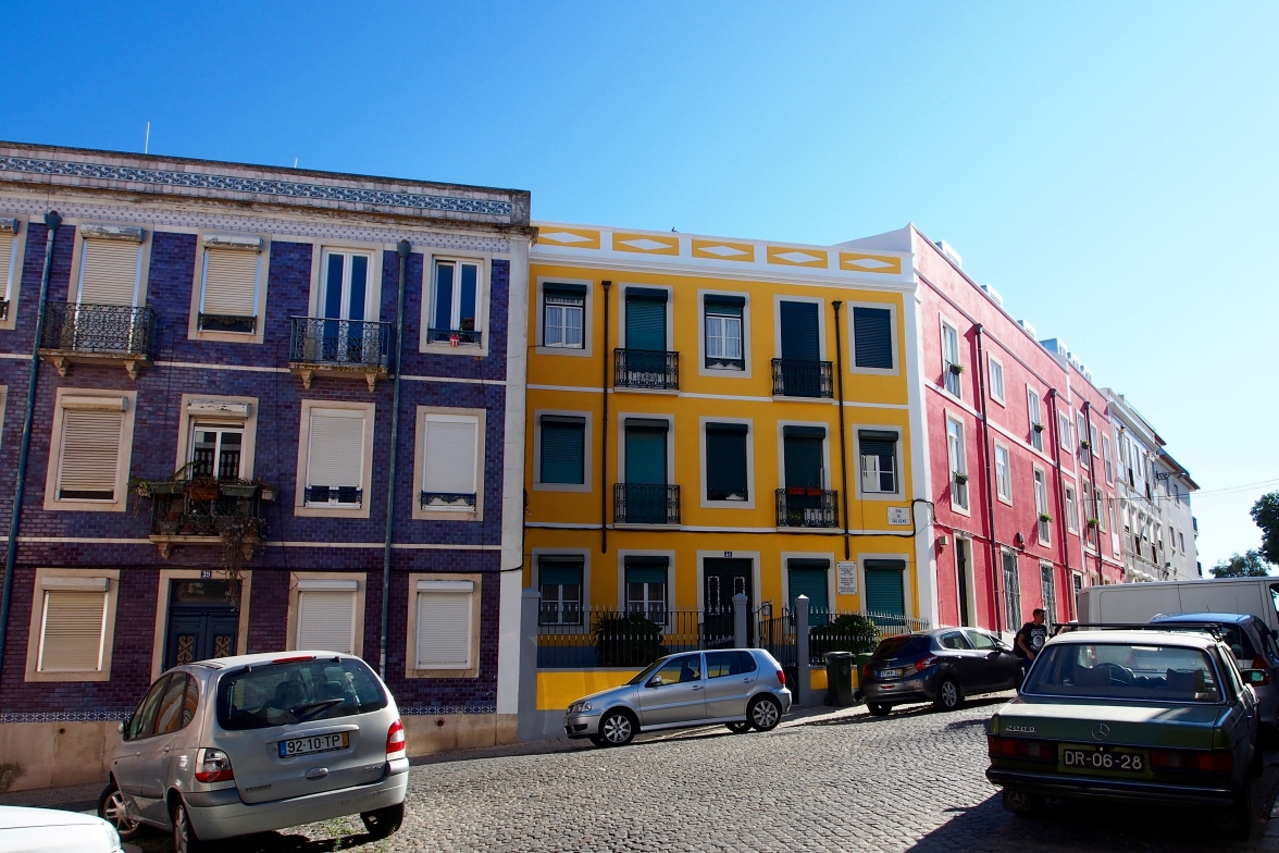 The colorful buildings in Lisbon made for fun photography