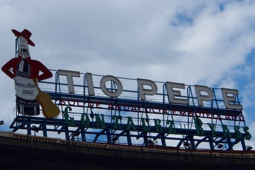 The famous Tio Pepe sign in La Puerta del Sol