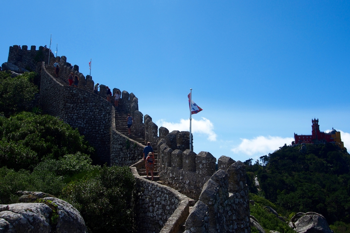 We were happy with our choice to tour the Moorish castle, which offers views of Pena Palace