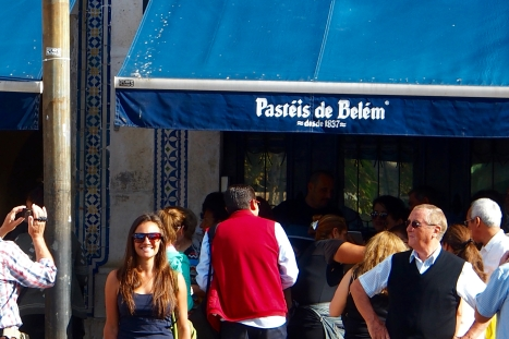 Skip the line out front at Pasteis de Belem and head right inside for a table