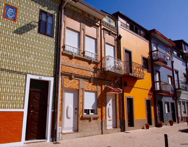 Portugal is known for its ceramic tiles, which appear everywhere including on the siding of many homes and buildings