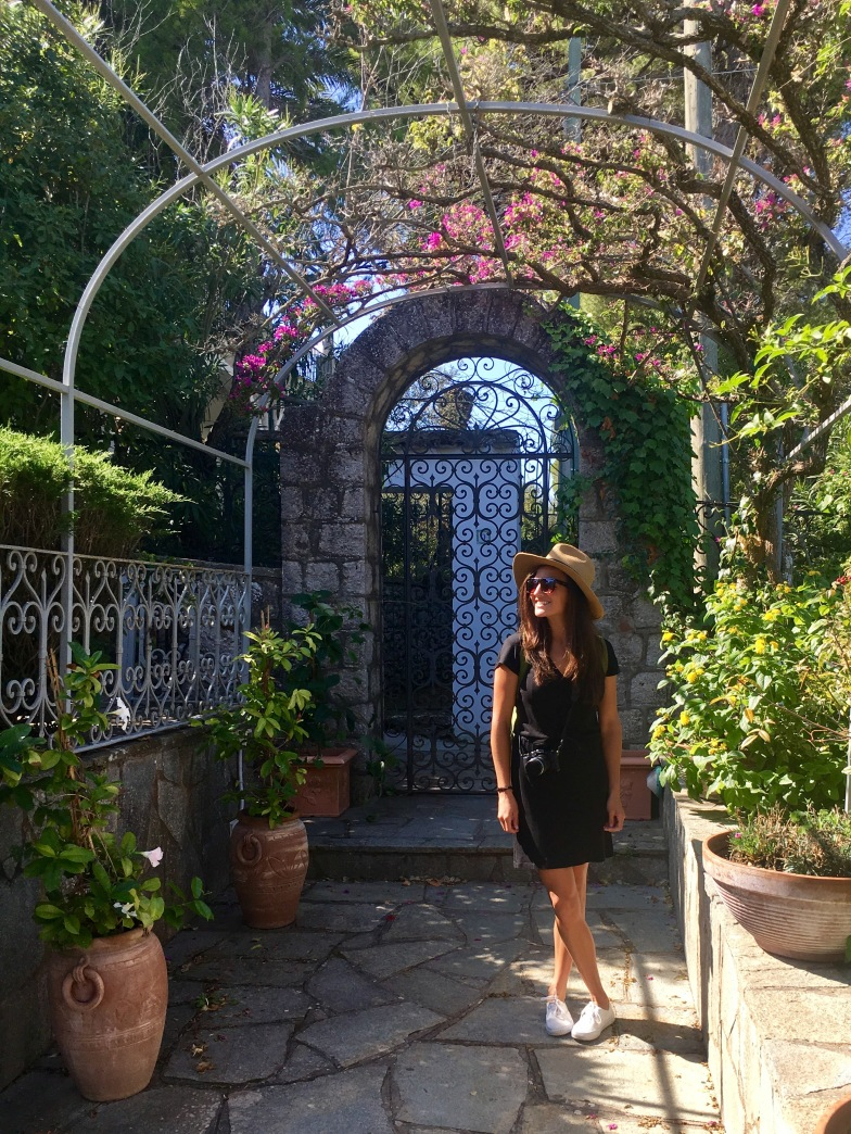 Our B&B had a beautiful garden and patio - typical in the style of the island