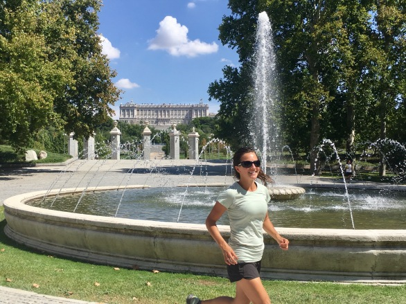 Running the Manzanares River was a great way to see Madrid!