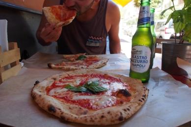 Neapolitan pizza in Pompeii