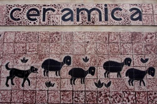 The colorful tiles of Vietri Sul Mare