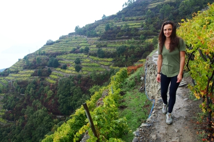 Hiking amongst vineyards