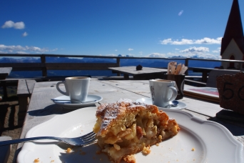 Pie and espresso break anyone? The service and food at the Refugio Schutzhaus Latzfonserkreuz were top notch