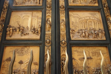 The brass doors of the Florence Bapistry