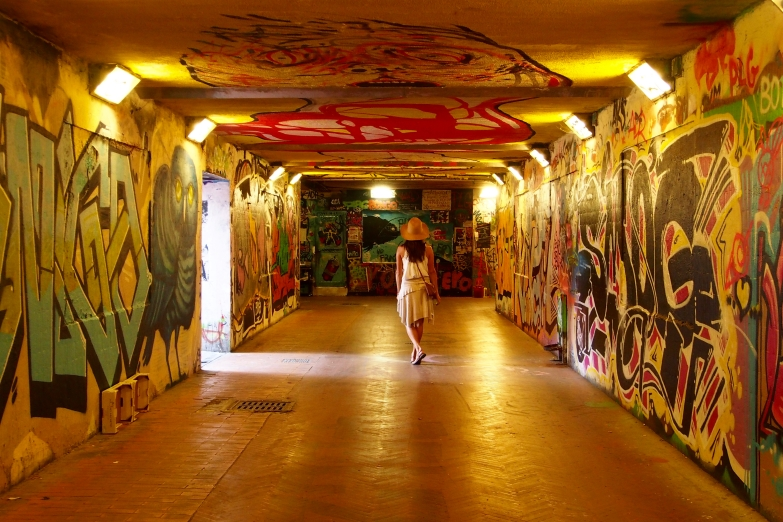 Fabulous street art in the tunnels of Florence