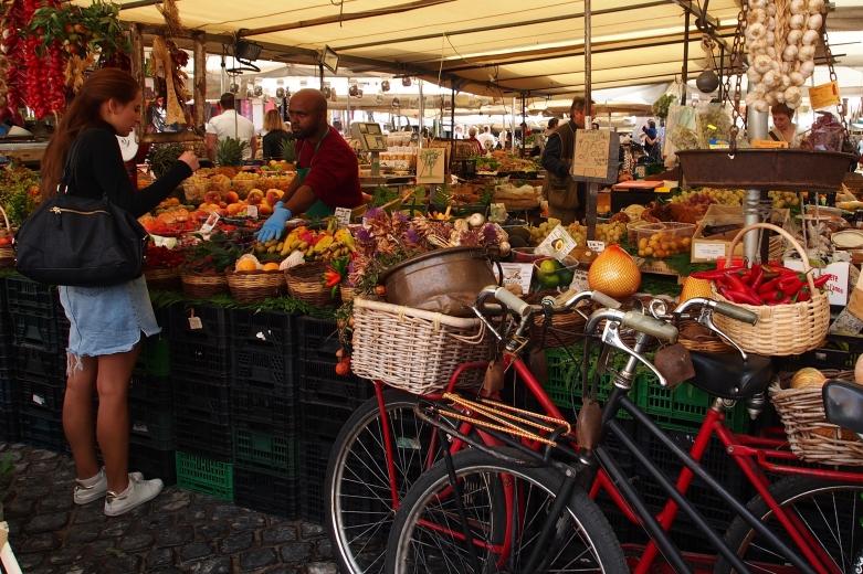 The market in the Campo de Fiori is worth a visit