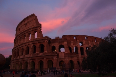Sunset at the Colosseum