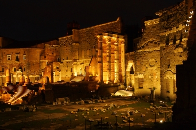 The Roman Forum - if you don't have time to see everything during the day, don't fret! Many Roman ruins are beautiful to view at night.