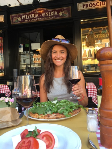 Pizza and caprese!