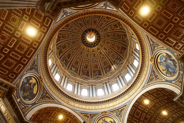 The magnificent ceiling of St. Peter's Basilica