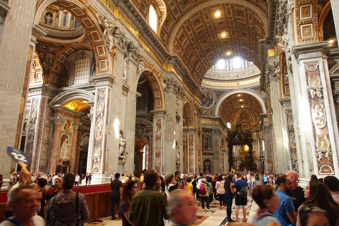 The sheer size of St. Peter's Basilica is incredibly impressive - it is the largest cathedral in the world