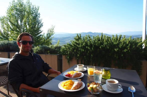 Breakfast in Tuscany